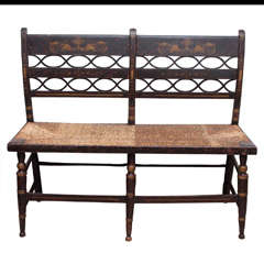 Early 20th Century American Painted Bench