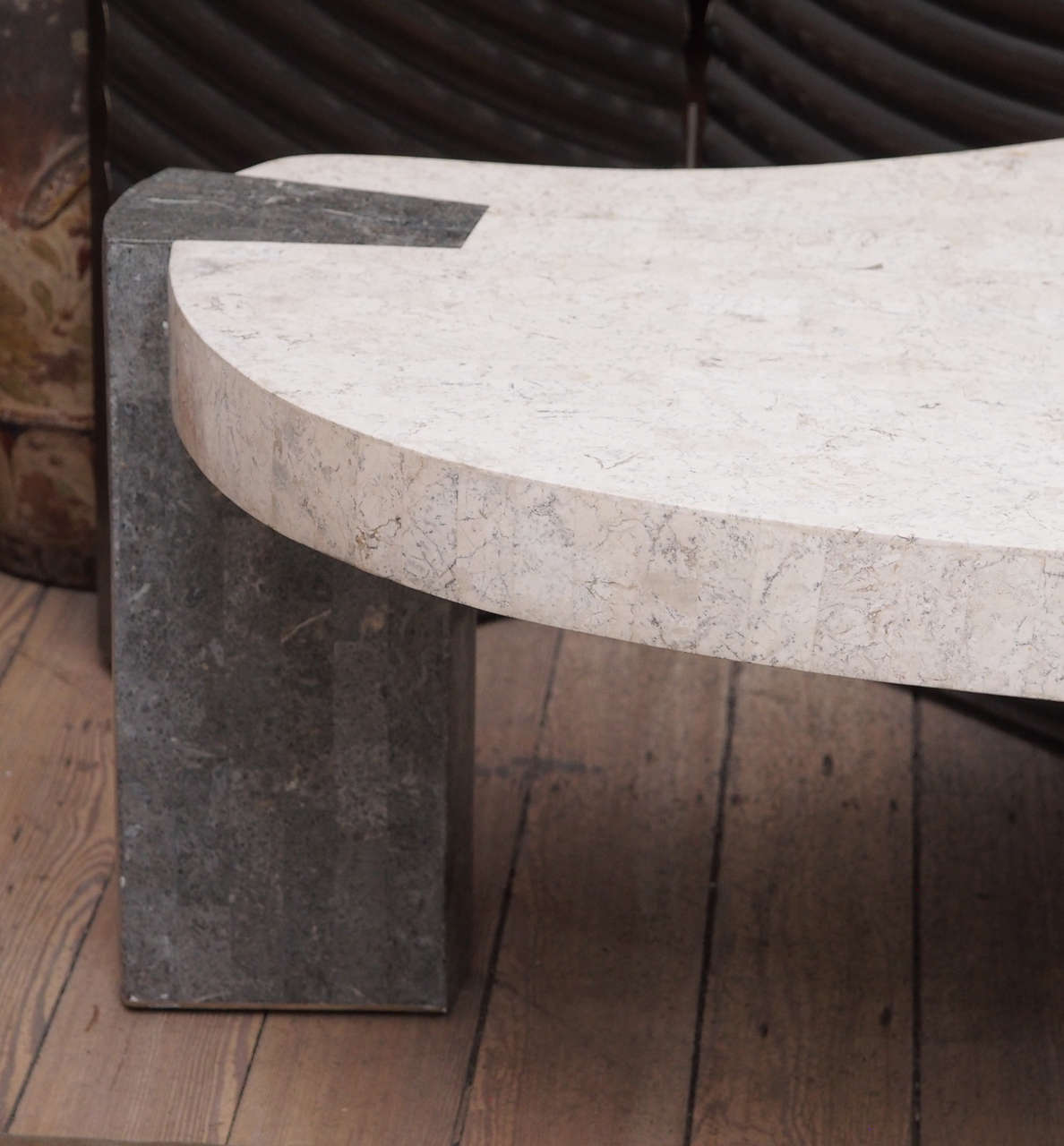 Midcentury Faux Marble Coffee Table For Sale At 1stdibs