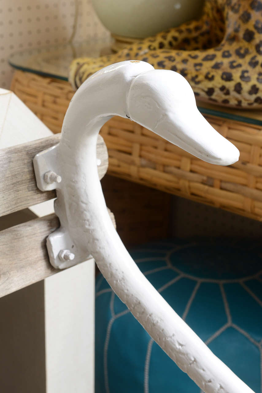 Cast Iron Swan Park Bench In Good Condition In West Palm Beach, FL