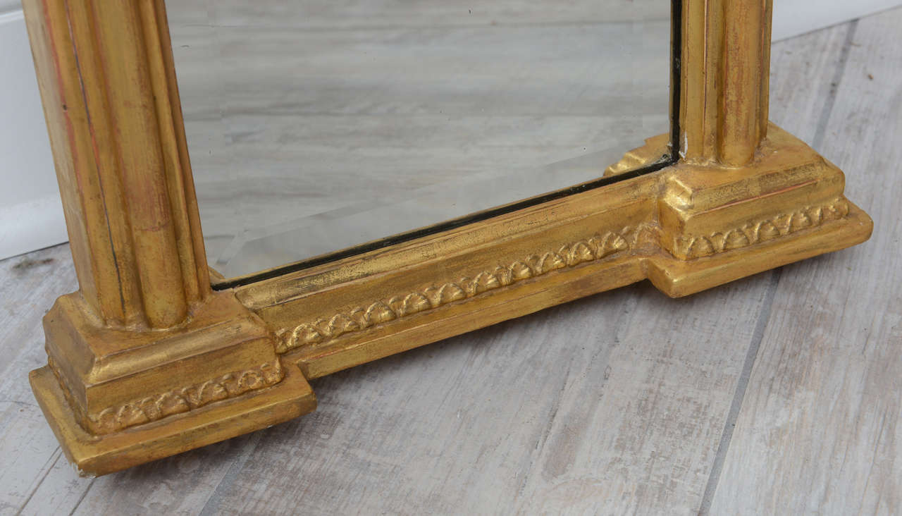Pair of Gilded Neoclassical Mirrored Whatnots For Sale 1