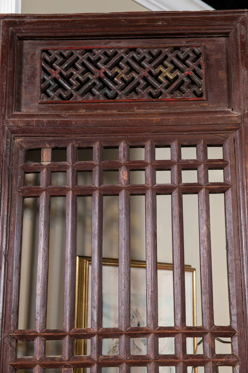 Set of Five Antique Chinese Doors In Good Condition For Sale In Stamford, CT