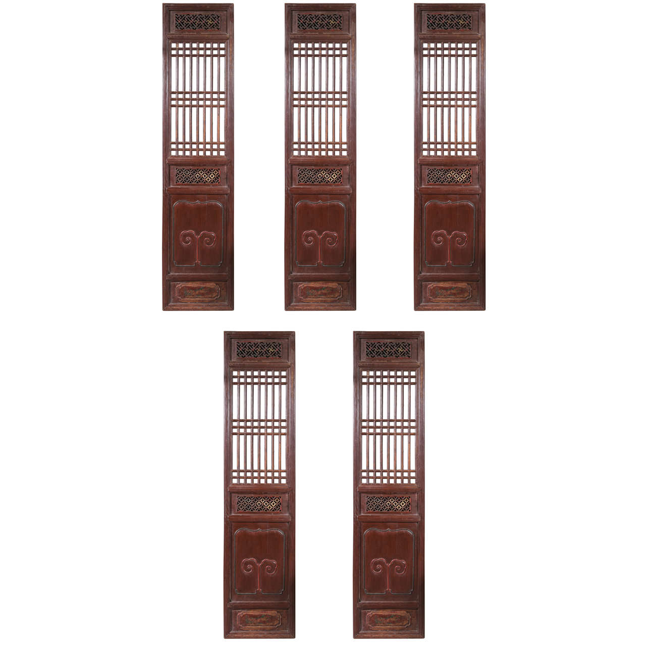 Set of Five Antique Chinese Doors For Sale