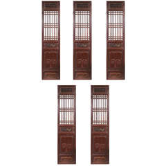 Set of Five Antique Chinese Doors