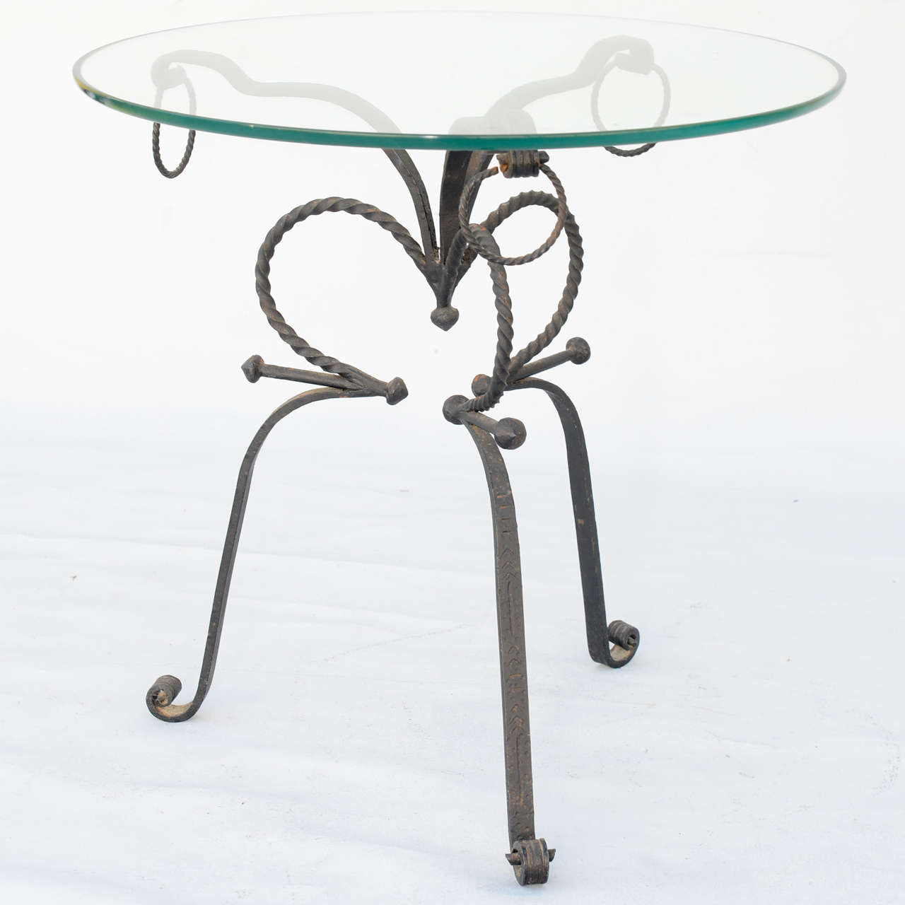 Unusual Wrought Iron Table In Excellent Condition For Sale In West Palm Beach, FL