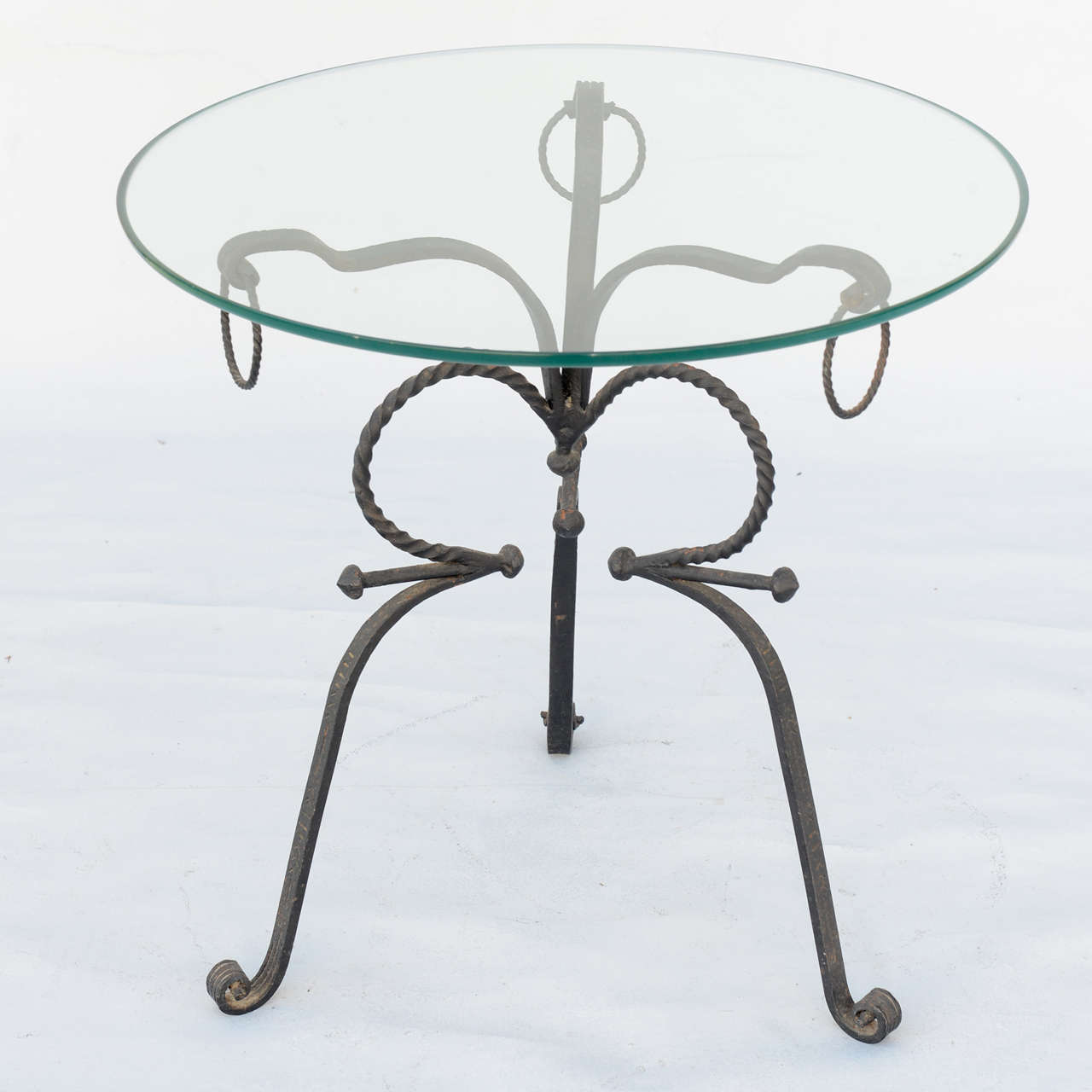 Unusual Wrought Iron Table For Sale 1