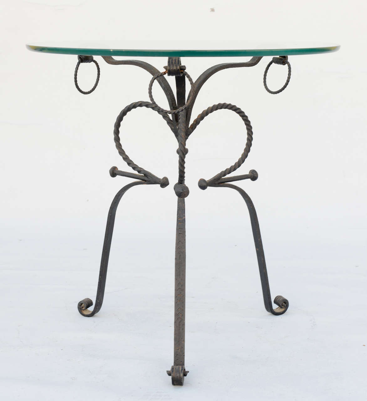 Unusual Wrought Iron Table For Sale 5