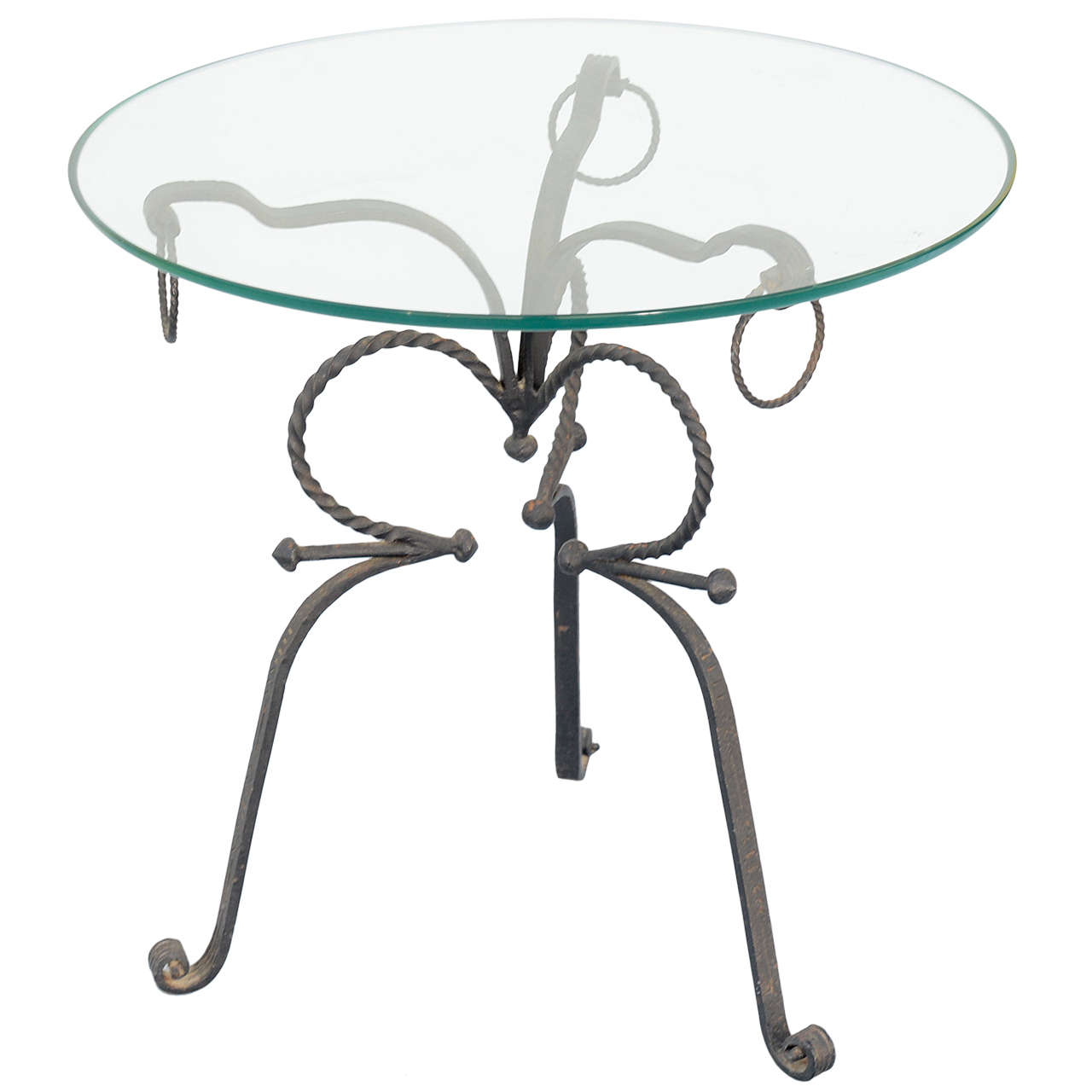 Unusual Wrought Iron Table