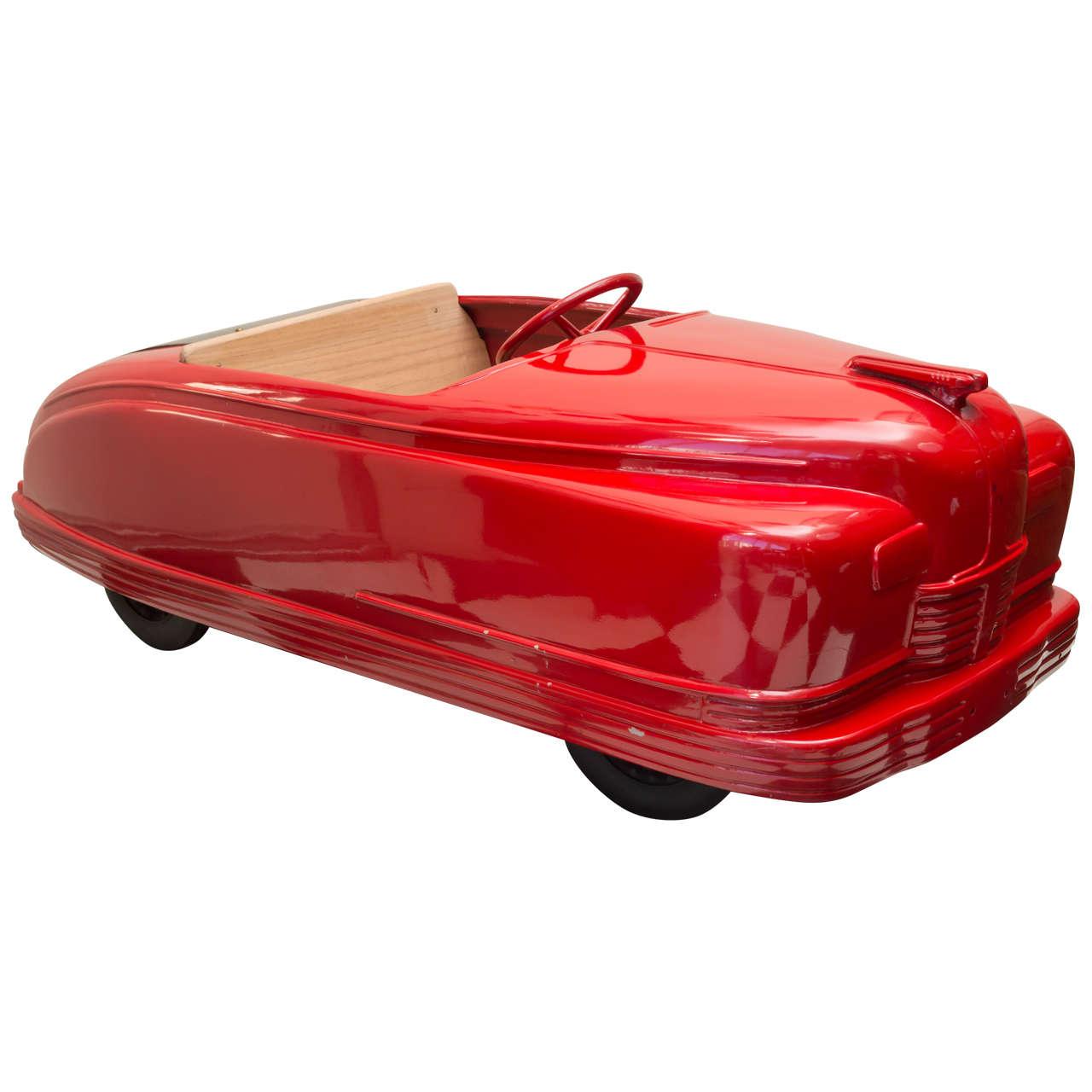 "Late 1940s American Amusement Park Car, ""Little Red Convertible"""