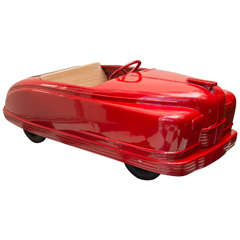 "Late 1940s American Amusement Park Car, ""Little Red Convertible"""