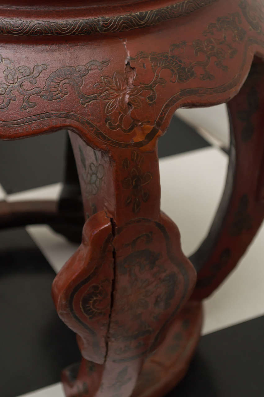 Late 19th C Chinese Coromandel Stool At 1stdibs