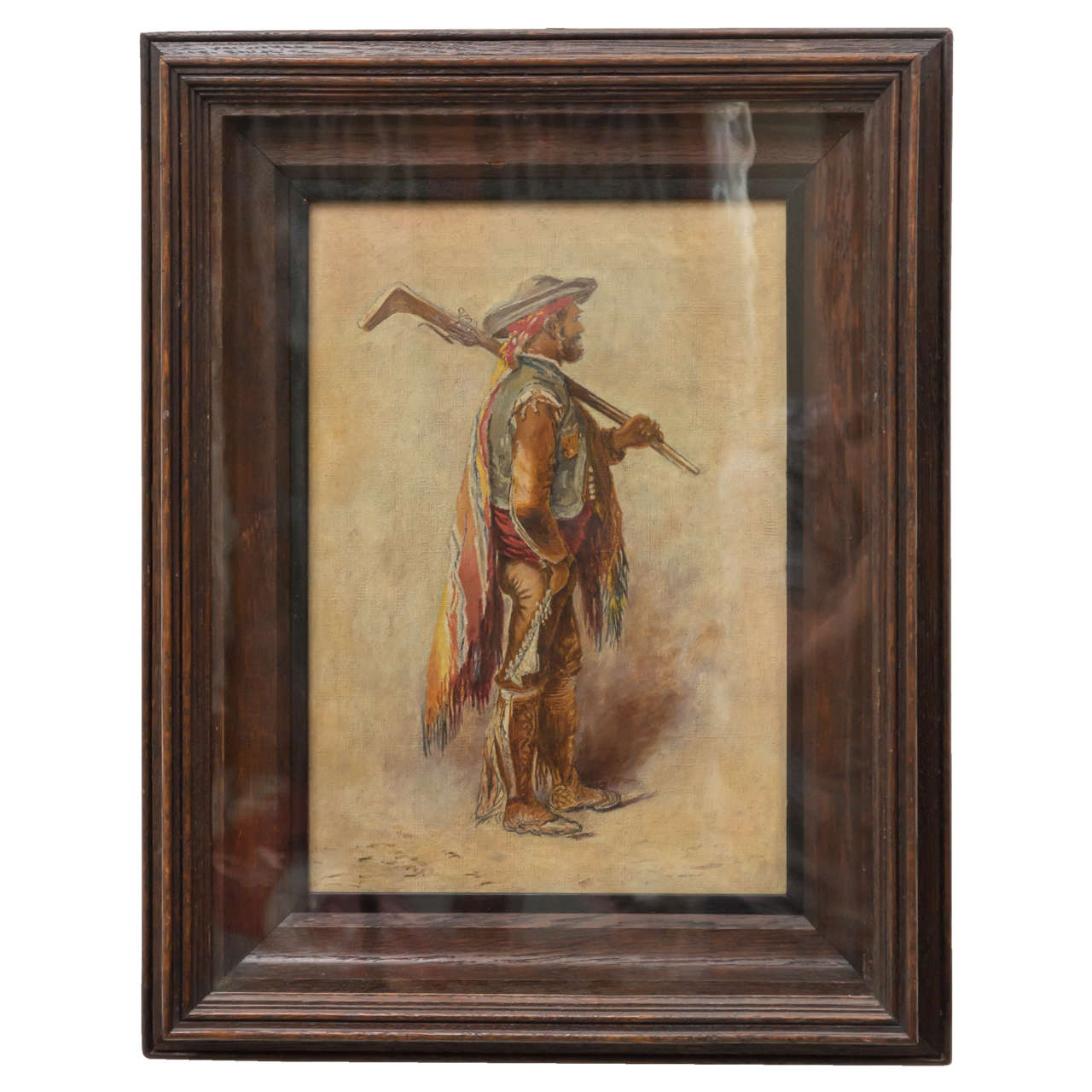 19th Century Continental Oil Painting of a Hispano-Moresque Figure