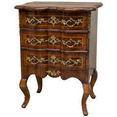 Diminutive 18th Century German Walnut Rococo Commode