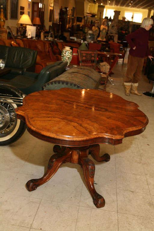 Regency English Walnut Center Table For Sale