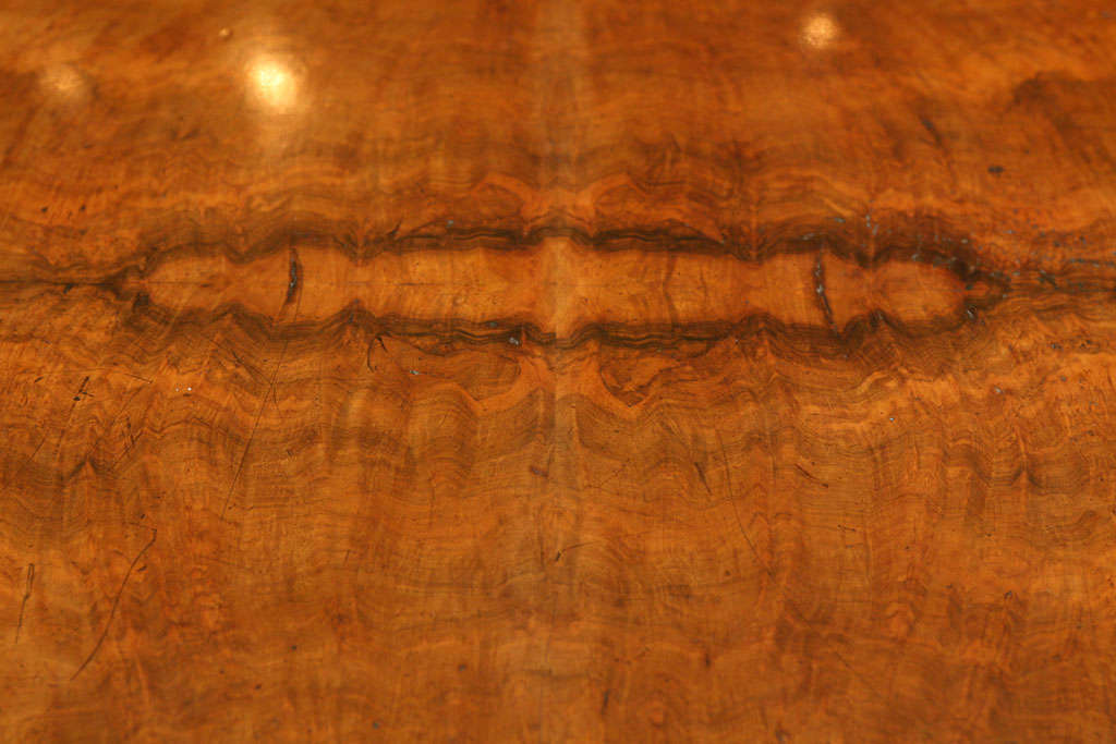 English Walnut Center Table In Good Condition For Sale In Hudson, NY