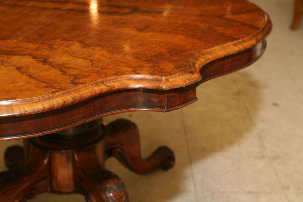 English Walnut Center Table For Sale 3