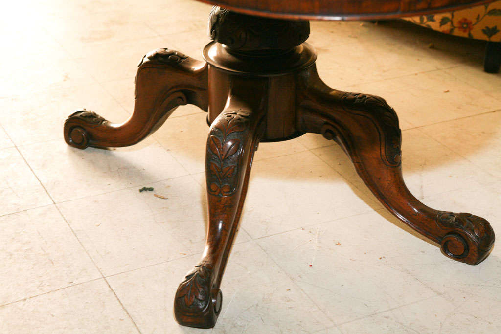 English Walnut Center Table For Sale 4