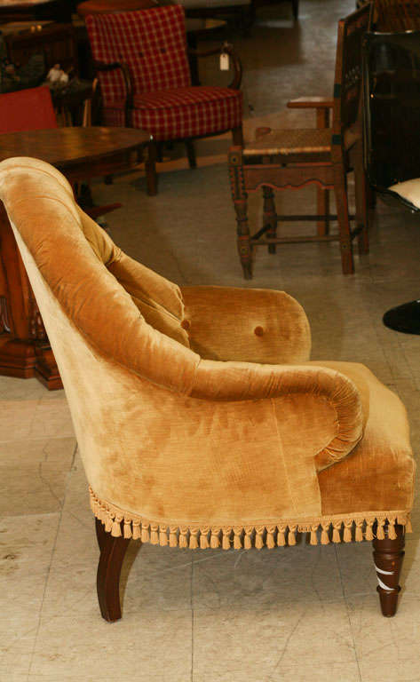 Victorian Tufted Armchair In Good Condition In Hudson, NY