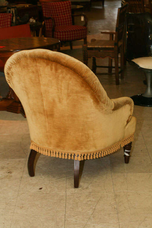 19th Century Victorian Tufted Armchair