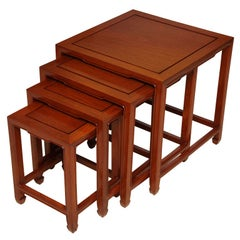 Exquisite Baker Far East Style Nesting Tables