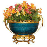 Antique French Porcelain Centerpiece with Gold Bronze Mounts