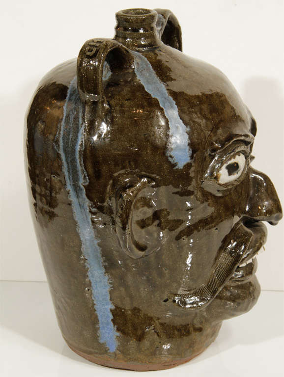 20th Century Monumental Folk Art Jug by Chester Hewell For Sale