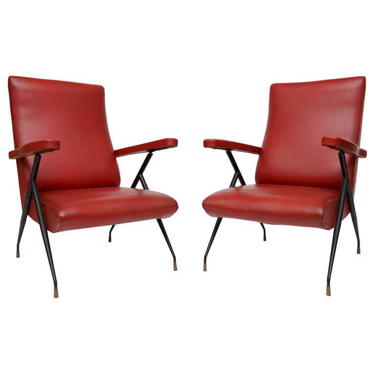 vintage italian reclining chairs 1