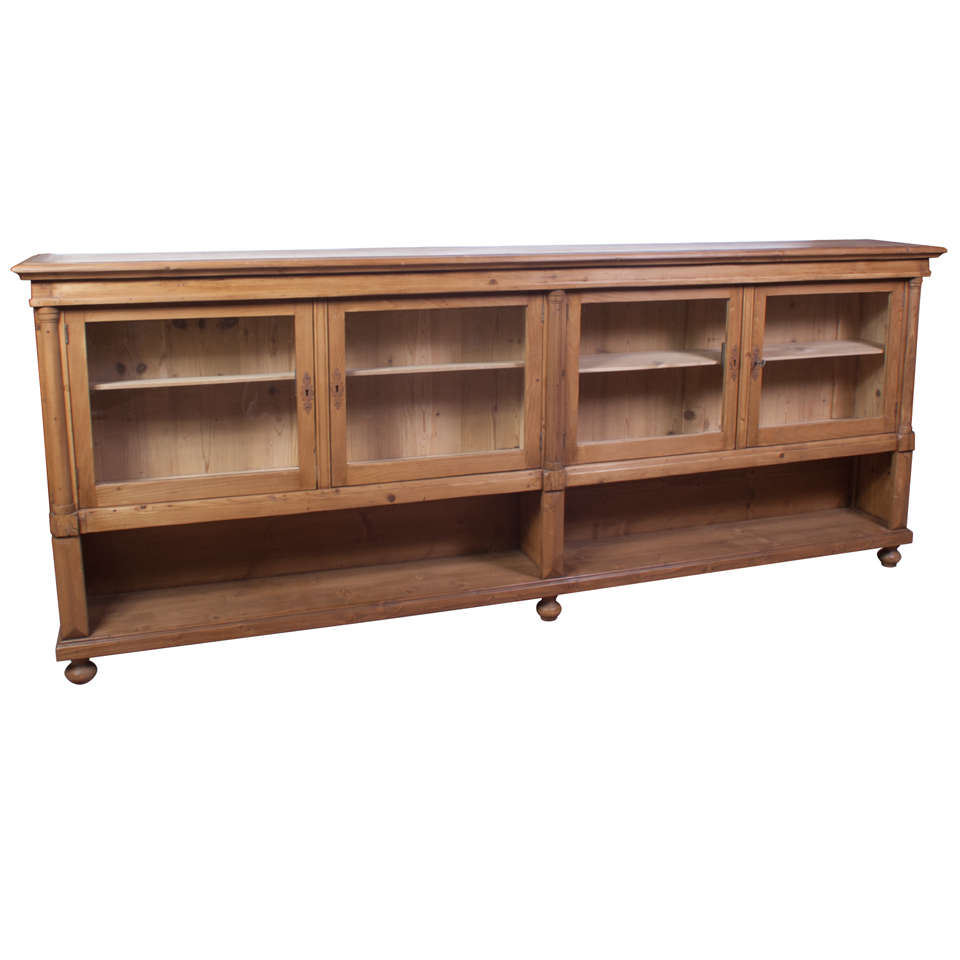 Pine Low Bookcase