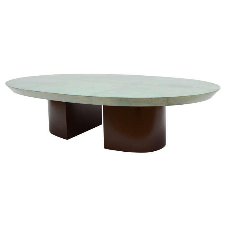 Stunning Goatskin Coffee Table At 1stdibs
