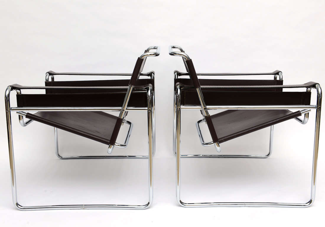 Pair of vintage knoll marcel breuer wassily chairs at 1stdibs