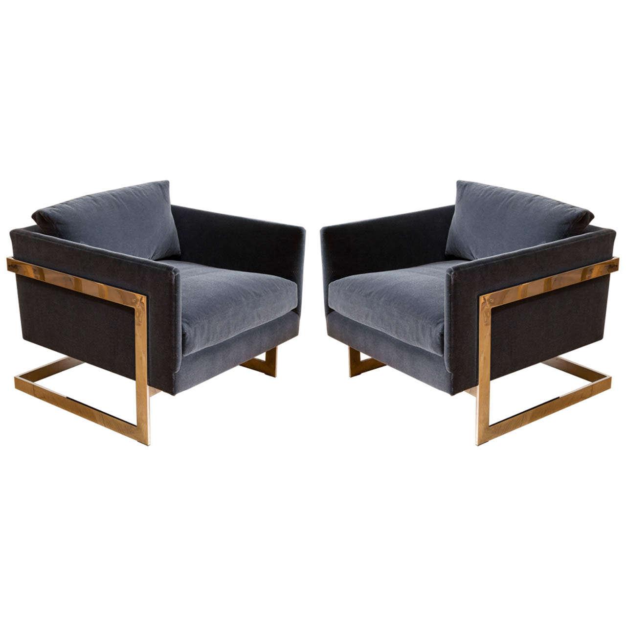 Milo Baughman Lounge Chairs At 1stdibs