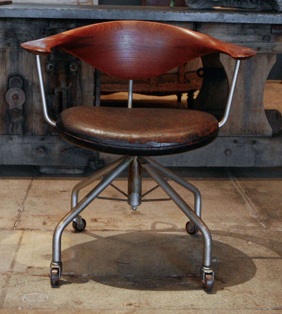 Swivel Chair By Hans Wegner Denmark 1955 At 1stdibs