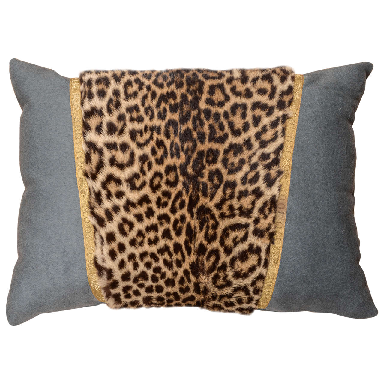 Early 20th-century Leopard skin pillow