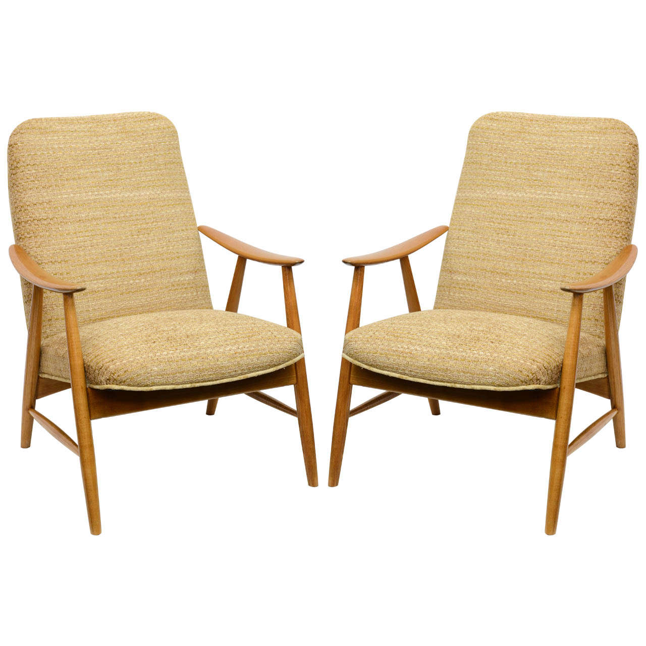 Pair of mid century modern armchairs in a style of juhl for Mid century modern armchairs