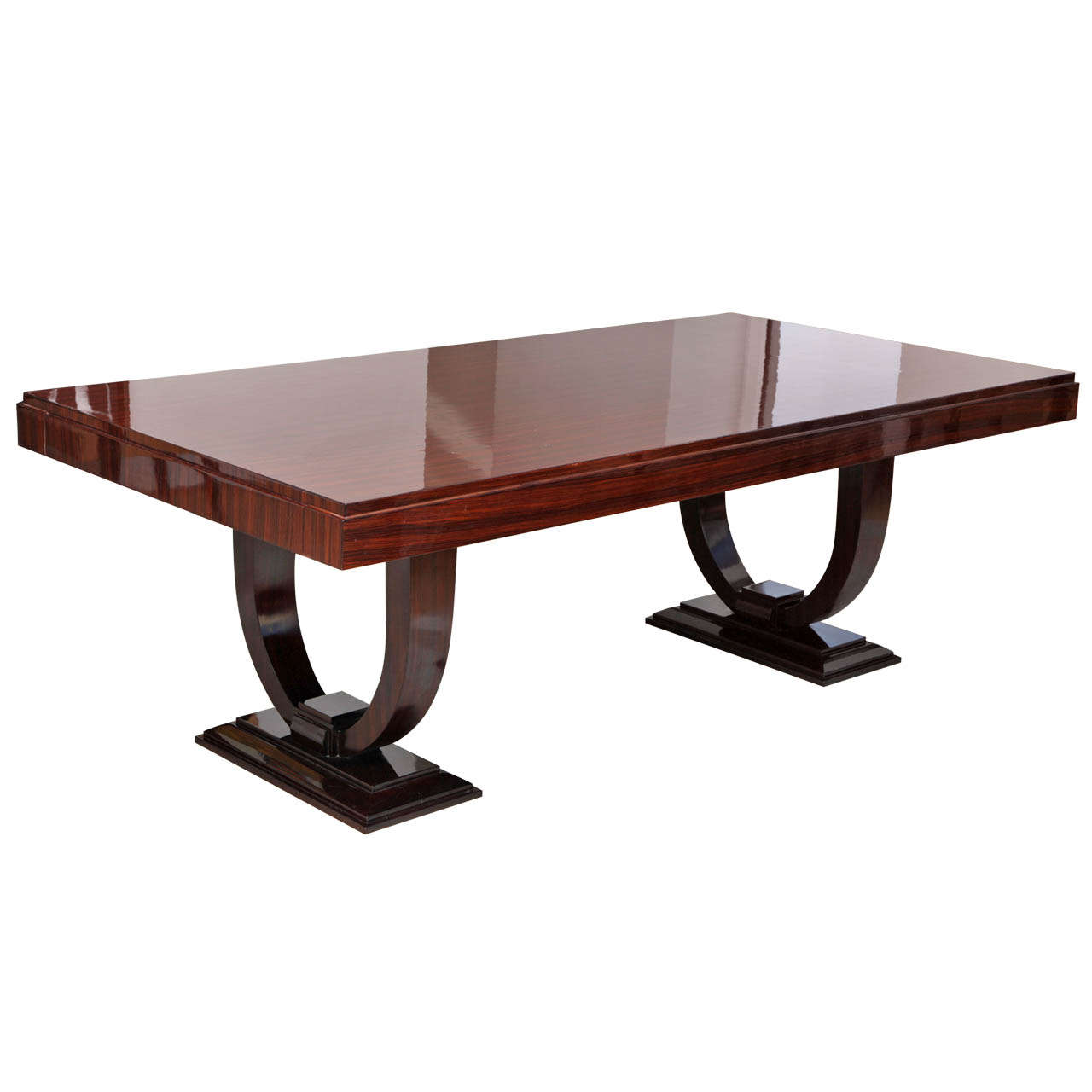 Stunning Art Deco Macassar Ebony Dining Table For