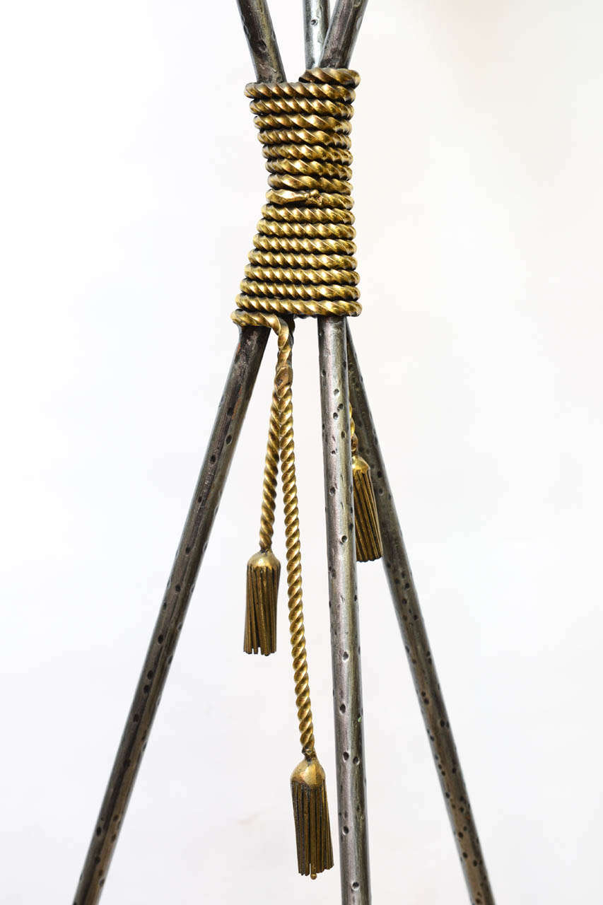 Pair of Tall Neoclassical Tripod Planters For Sale 1