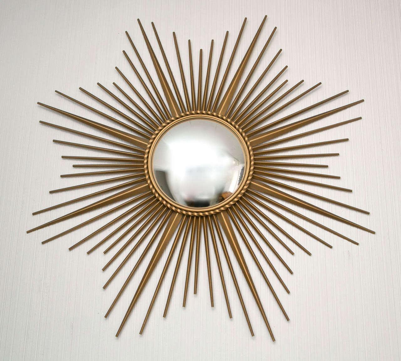 Gilt metal chaty vallauris mirror at 1stdibs for Chaty vallauris miroir