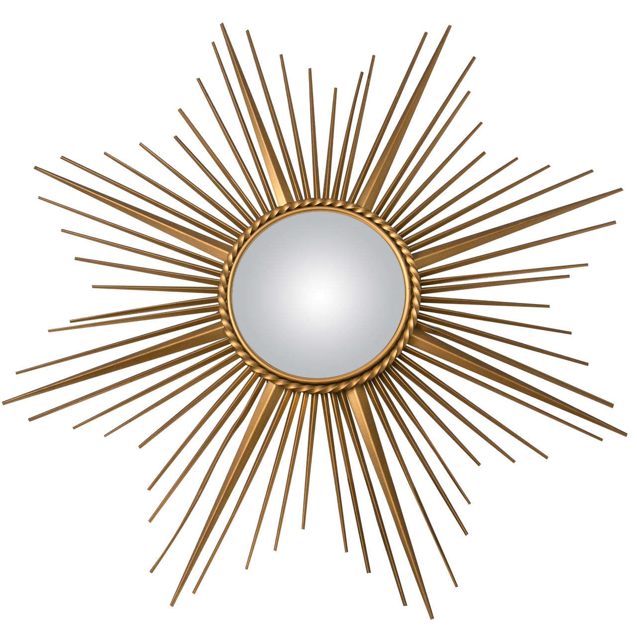 Gilt metal chaty vallauris mirror for sale at 1stdibs for Chaty vallauris miroir