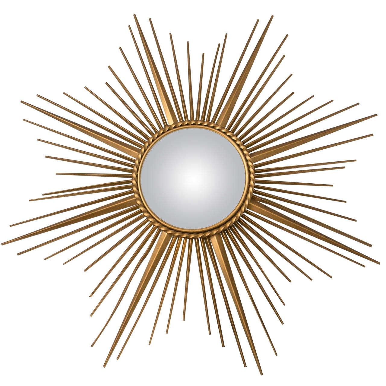 Gilt Metal Chaty Vallauris Mirror