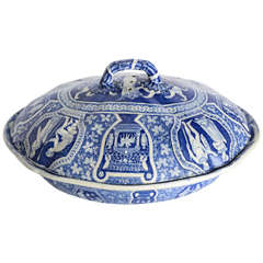 "Rare Spode ""Greek"" Covered Casserole, England, Early 19th Century"