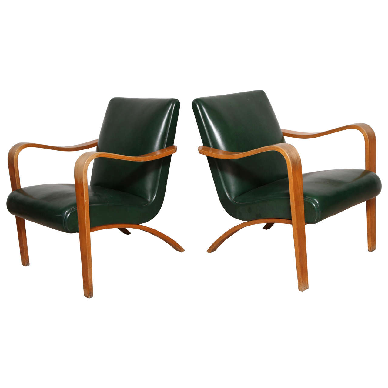 Bentwood lounge chair - Pair Of 1940s Thonet Bentwood Lounge Chairs 1
