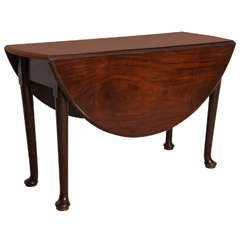 George II Walnut Drop-Leaf Table
