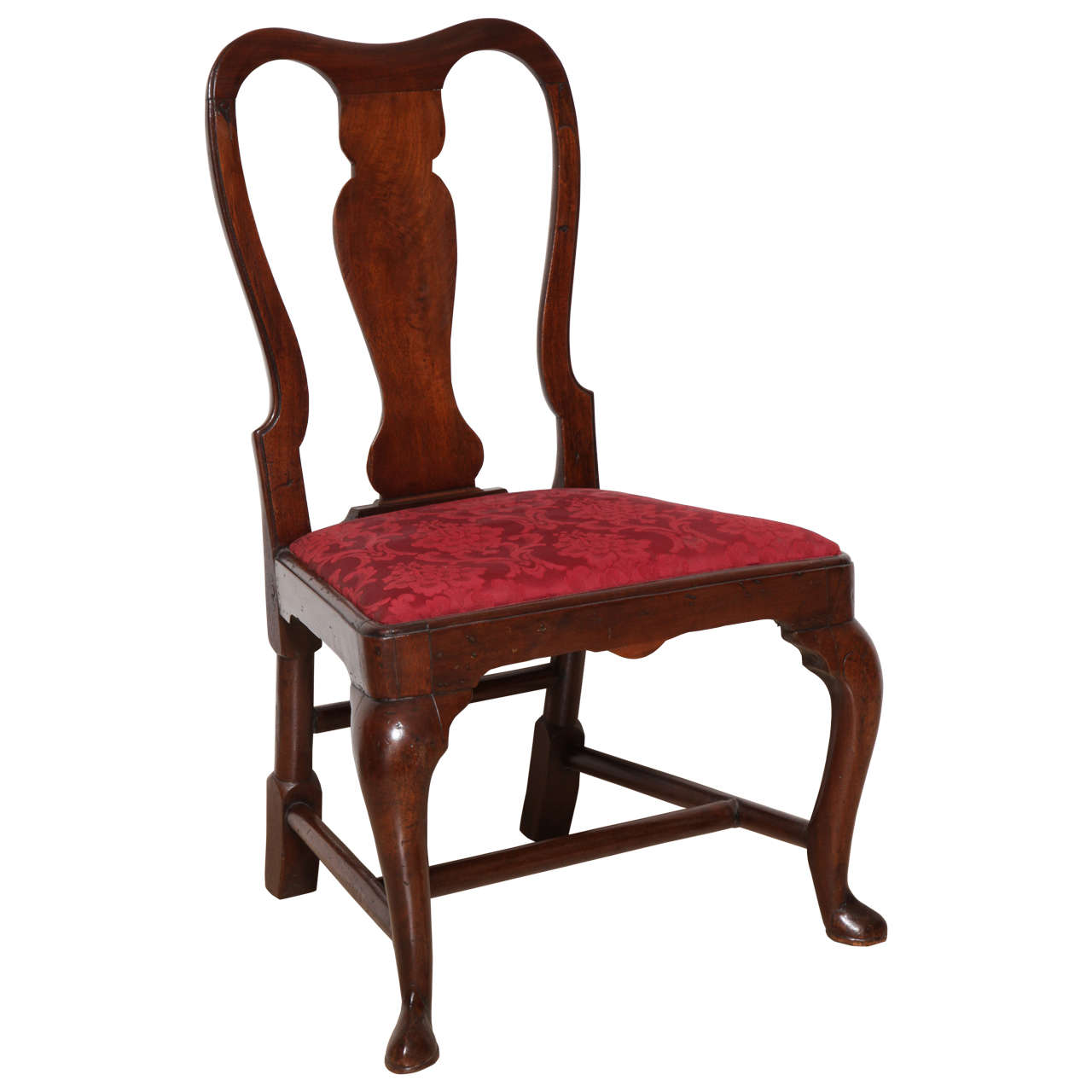 18th Century American Queen Anne Mahogany Side Chair For Sale At 1stdibs