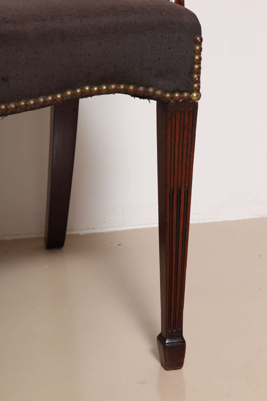 English George III Mahogany Armchair in the Manner of Hepplewhite For Sale