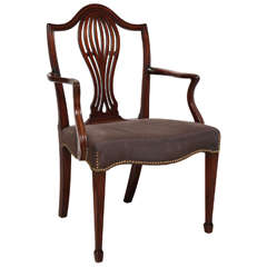 George III Mahogany Armchair in the Manner of Hepplewhite