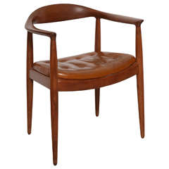 "Danish Midcentury ""The Chair"" Designed by Hans Wegner"