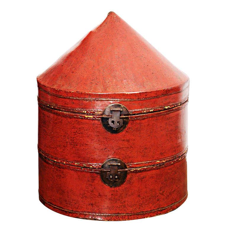 Chinese Hat Box At 1stdibs