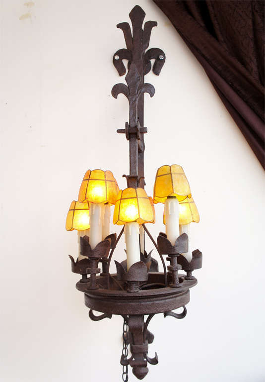 Wall Sconces Wrought Iron : Hand Wrought Iron Wall Sconces at 1stdibs