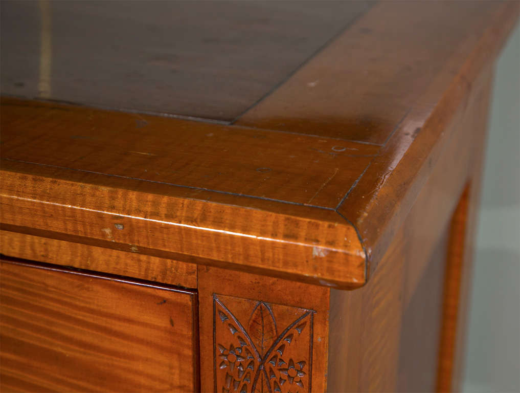 This antique french cherry side table is no longer available - 1820 S American Chest With Side Columns At 1stdibs