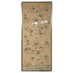 1980's Gracie Wallpaer Panel in Silver Leaf Frame