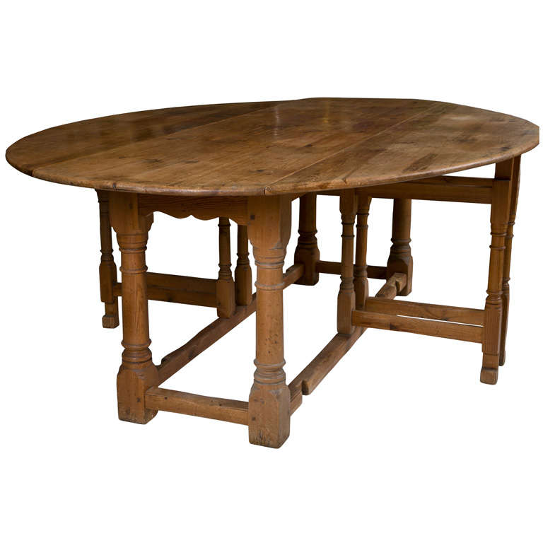 C 1870 S English Oval Pine Table At 1stdibs